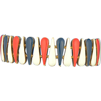 Red White & Blue Teardrop Bracelet