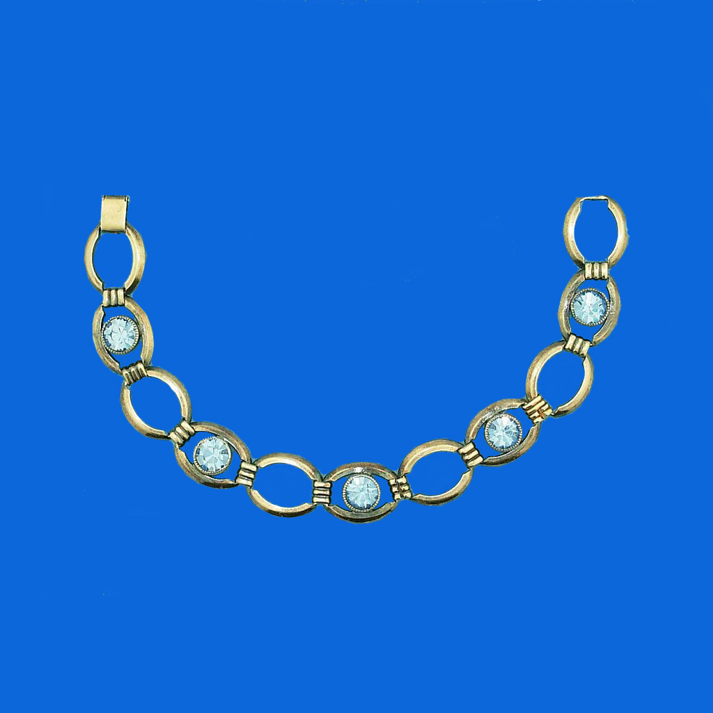 Simmons Light Blue Rhinestone Bracelet