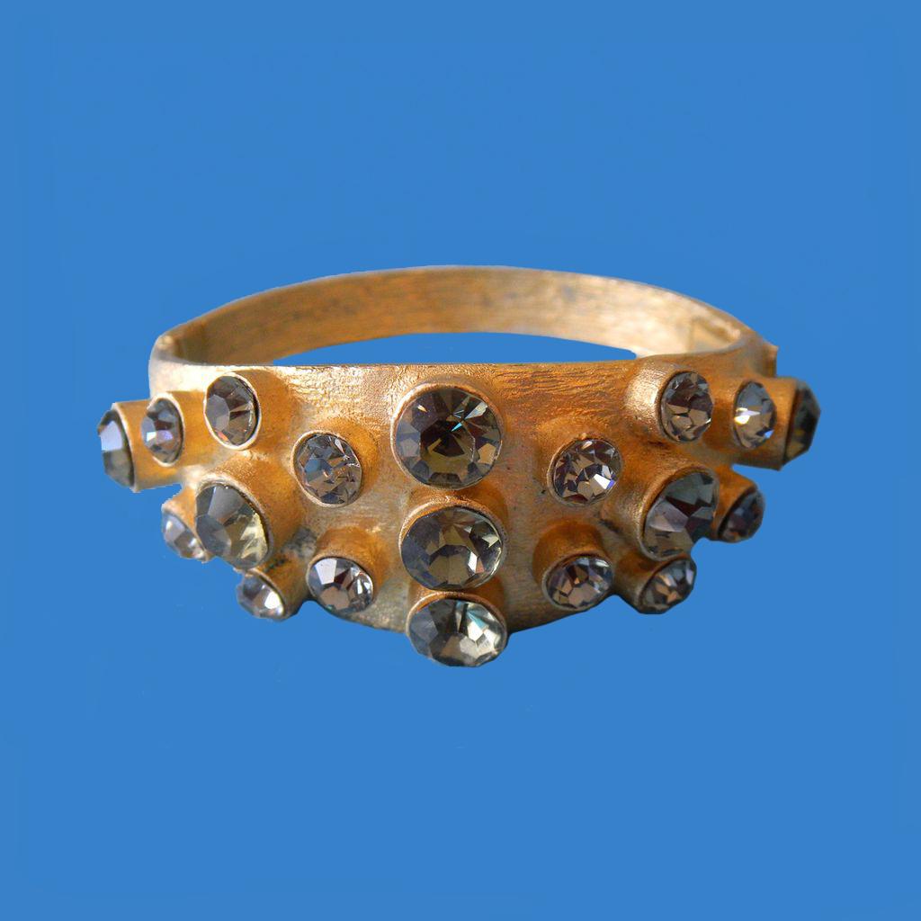 Black Diamond Rhinestone Bracelet