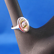 Gorgeous Vintage Abalone Ring by Avon