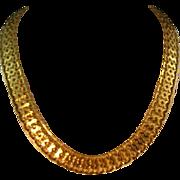 SOLD Lovely Vintage Monet Goldtone Linked Necklace
