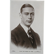 Royalty Real Photo Postcard - HRH The Duke of York (King George VI)
