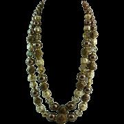 Fabulously Fall Vintage Double Strand Vendome Art Glass Necklace