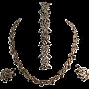 Exquisite Marboux (Boucher) Parure (Necklace, Bracelet and Earrings)