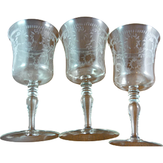 Antique Crystal Water Goblets