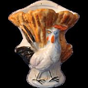 Antique Staffordshire Rooster Vase