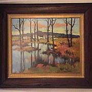 Original Maurice LeMaitre Painting French Landscape