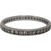 Single Cut Diamond Platinum Eternity Ring