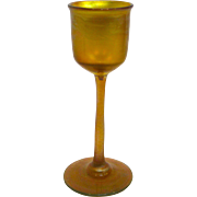 Louis Comfort Tiffany Favrile Glass Stemmed Cordial
