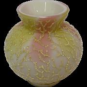 Mount Washington Coralene Decorated Satin Glass Vase