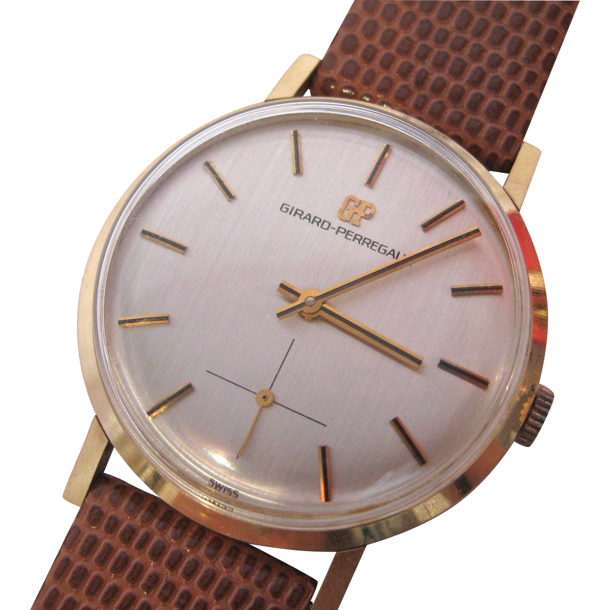 Vintage Girard Perregaux 18k Rose Gold Watch Unisex From