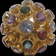 Vintage H. Stern 18 K Gold Large Sputnik Ring, circa 1955