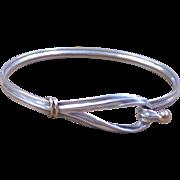 Vintage Tiffany & Co. Sterling Silver Hook and Eye Bracelet
