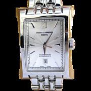 Cuervo y Sobrinos Esplendidos Stainless Steel Men's Watch in Luxury Burl Box