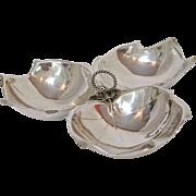 Alfredo Sciarrotta Sterling Silver Triple Leaf Dish, circa 1950