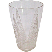 R Lalique Marguerite Glass Tumbler