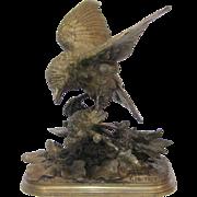Pautrot's Bronze Sculpture of Two Birds