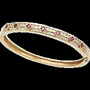 Diamond, Ruby and 14K Gold Bracelet