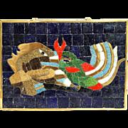 Salvador Teran Mexican Brass and Mosiac Tile Box