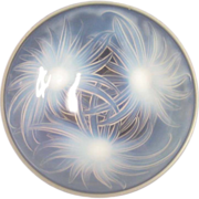 SOLD Etling Sea Anemones French Opalescent Glass  Platter