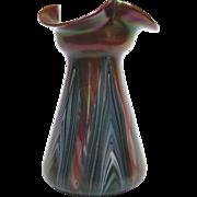 Iridescent Rindskopf Pulled Feathered Vase, circa 1910