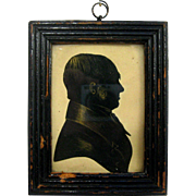1850s Silhouette Portrait of a Gentleman