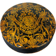 19th C. Italian Gold Leaf Snuff Box with Bacchus Ornamentation