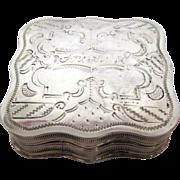 1860s Sterling Silver Dutch Souvenir Box