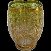 Bohemian Gilt Enamel Moser Glass Vase