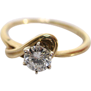 Stunning 14 Karat Brilliant Cut Solitaire Diamond Ring