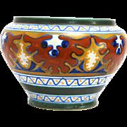 Gouda Art Pottery Small Jardiniere in the Candia Pattern circa 1920s