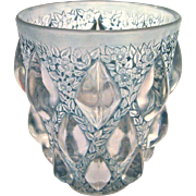 "R. Lalique ""Rampillion"" Vase with Blue Green Patina, circa 1927"