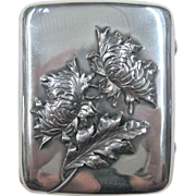 Shiebler Sterling Silver Case with Chrysanthemums