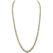 Graduated Akoya Cultured Pearl Necklace with 14K White Gold Clasp.
