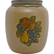Hand-painted Hjorth Ceramic Fruit Vase