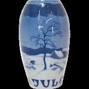 Bing & Grondahl Blue and White Scenic Porcelain Vase