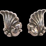 Vintage Sterling Silver La Paglia for Georg Jensen Earrings