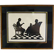 Eveline Maydell Family Silhouette with Small Dog circa 1920
