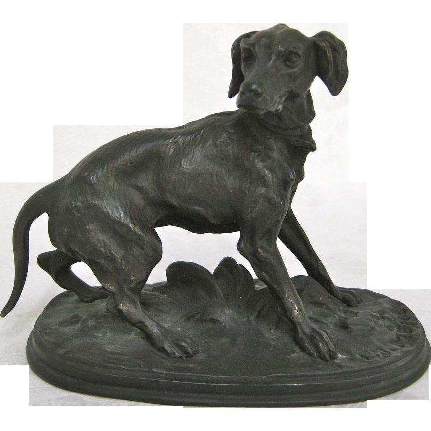 Bronze Dog Animalier Sculpture By P J Mene Circa 1860s From Rubylane Sold On Ruby Lane