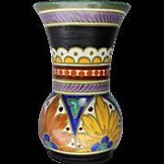 Gouda Art Pottery Vase in Desire Royal Pattern circa 1950s