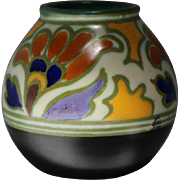 SALE PENDING Gouda Art Pottery in the Metz Royal Pattern circa 1920s