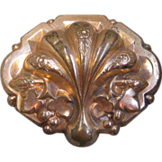 Victorian Gold Fill Pin or Brooch with Shell Design