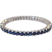 18 K White Gold and Sapphire Eternity Band