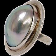 Osmena Nautilus Pearl Sterling Silver Ring by Gunn Trigere