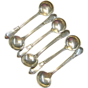 Set of 6 Sterling Silver Salt Spoons