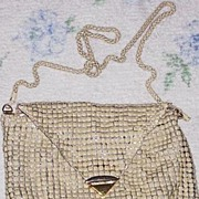SALE Towanny Art Deco Enamel Mesh Purse