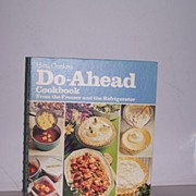 SALE Betty Crocker's Do-Ahead Cookbook 1st Edition
