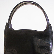 SALE Vintage Lennox  Patent Leather  Handbag