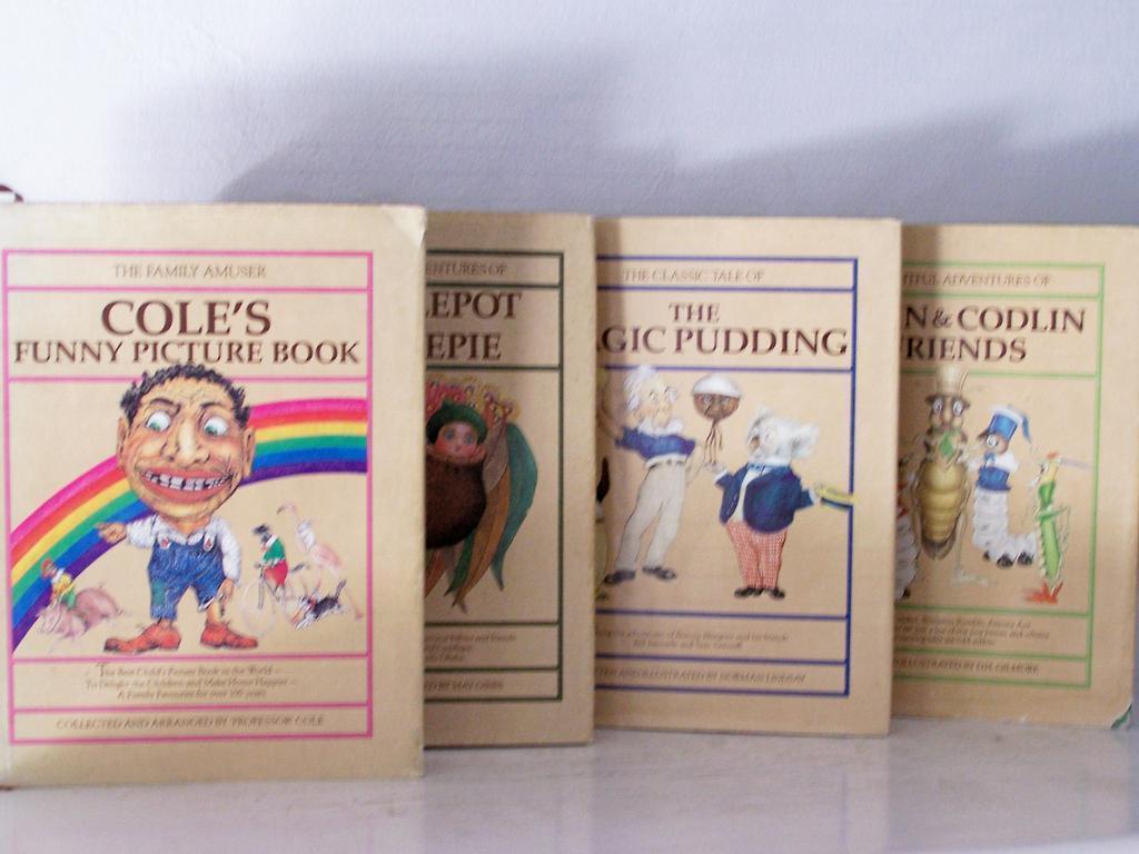 4 Books Australian classics (out of print) fabulous Color Plates