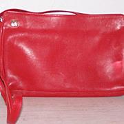 SALE Ganson Red Leather Handbag shoulder / clutch